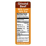 90 / 10 GROUND BEEF NUTRITION PANEL