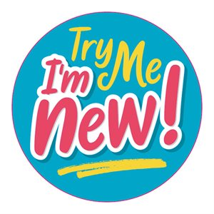 TRY ME, I'M NEW CIRCLE LABEL
